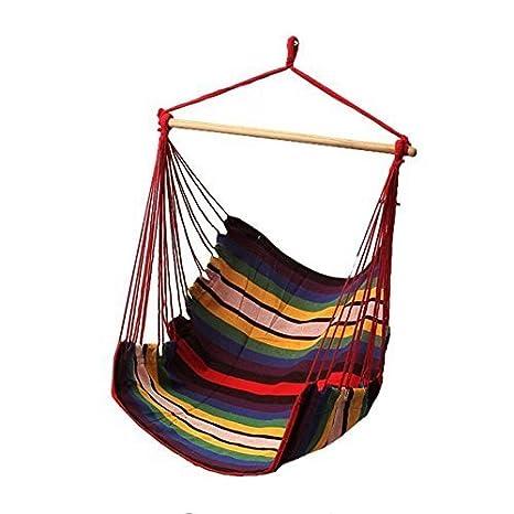 VAlink Hammock Rope Chair, Hammock Swing Chair, Hanging Rope Hammock Chair,  Portable Porch