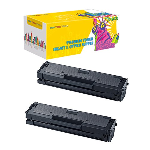 New York Toner New Compatible Remanufactured 2-Pack MLT-D111S Toner for Samsung Xpress M2020W & M2070DW Printers -- Black
