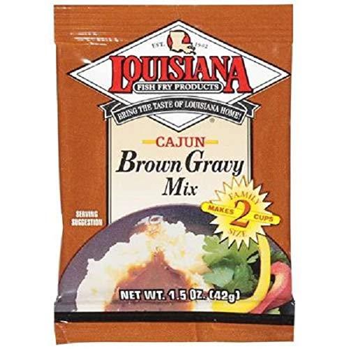 1.5 Oz Louisianna Fish Fry Products Brown Gravy Mix, Cajun