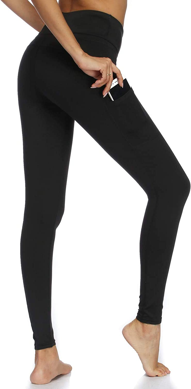 Witkey Women Yoga Pant with Pockets Stretch Tummy Control High Waist Leggings