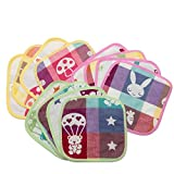 KaWaii Baby Multi-purpose Reversible Muslin Cotton Cloth Wipes (12/pack)