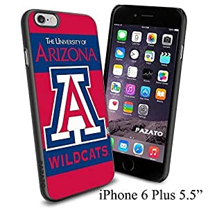 """NCAA THE UNIVERSITY OF ARIZONA WILDCATS , Cool iPhone 6 Plus (6+ , 5.5"""") Smartphone Case Cover Collector iphone TPU Rubber Case Black"""