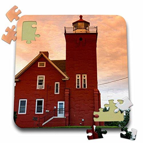 (Danita Delimont - Lighthouses - Two Harbors Lighthouse, Lake Superior, USA - US24 DFR0016 - David R. Frazier - 10x10 Inch Puzzle (pzl_144720_2))