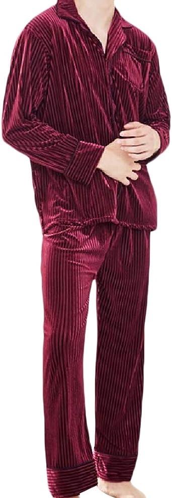 Sankt Pijama de Terciopelo para Hombre, Manga Larga ...
