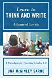 Learn to Think and Write, Una Mcginley Sarno, 1610484673