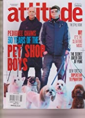 April 2016 issue features a long interview with The Pet Shop Boys, Neil Tennant and Chris Lowe. Also, a photo spread with the absolutely angelic model Pietro Boselli. Then, a history of queer representation in punk music starting in the 70's ...