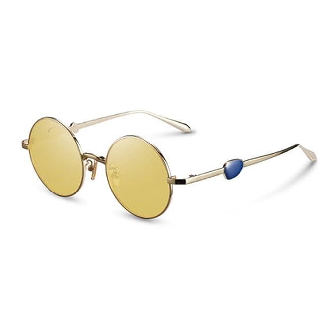 Gafas de mujer Gafas de sol de metal originales con marco redondo Gafas de sol  Gafas 6505528d5925
