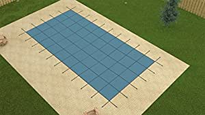 GLI™ 16 Ft. x 32 Ft. Rectangle Ultra Lite Solid Swimming Pool Safety Cover with Drain