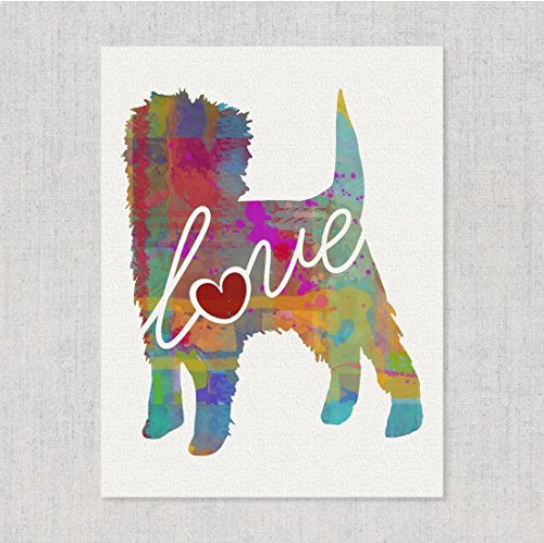 Affenpinscher Love - Watercolor-Style Print / Poster on Fine Art Paper - Can Be Personalized