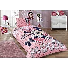 Minnie Mouse Bedding Duvet Cover Set New Licensed 100% Cotton / Disney Minnie Mouse Twin Size Duvet Cover Set / Minnie Mouse Bedding Set 3 PCS