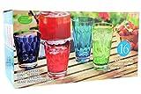 Cheap 16Pc Acrylic Tumbler Set Multi Color 8-14oz and 8-21oz