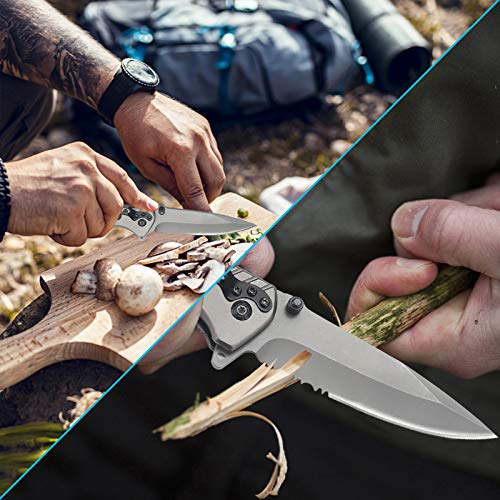 Pocket Knife - Folding Knife - survival knives multitool tactical knife For Camping Fishing Hunting Hiking Outdoor EDC Knife Unique Gift for men women