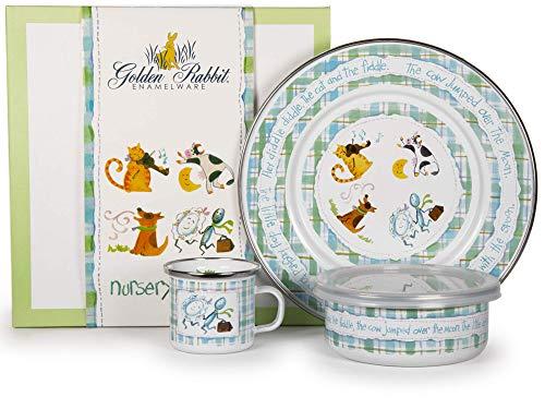 Golden Rabbit Nursery Rhyme Childs 3 Piece Set -