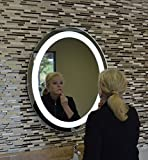 MAM33036 30''w X 36''t Oval Back Lighted Wall Mounted LED Vanity Mirror