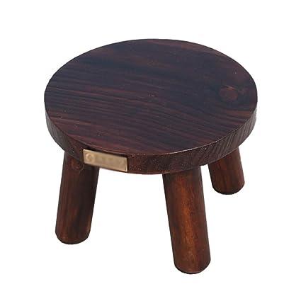 Fabulous Amazon Com Zhzhpsfd Solid Wood Stool Small Wooden Stool Customarchery Wood Chair Design Ideas Customarcherynet