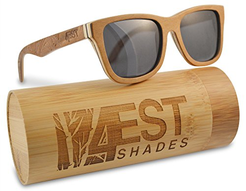 188928d449f Wood Sunglasses made from Maple Cherry-100% polarized lenses in a wayfarer  that floats! (Brown Maple
