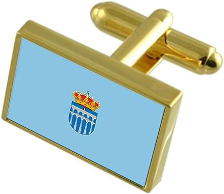 Segovia Ciudad España Bandera de Oro Gemelos: Amazon.es: Joyería