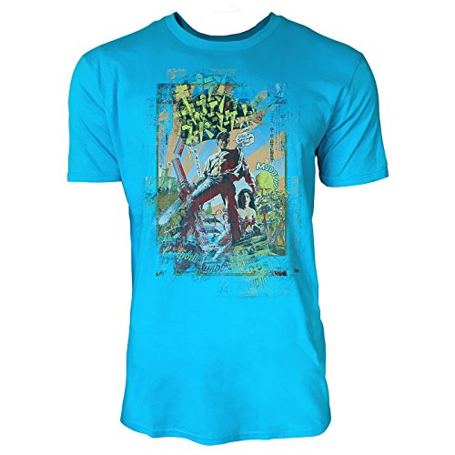 SINUS ART® Campbell Comic Herren T-Shirts in Karibik blau Cooles Fun Shirt mit tollen Aufdruck