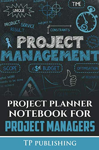 project planner notebook for project managers: size 6 by 9 200 pages plus