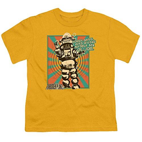 forbidden-planet-oil-job-big-boys-youth-shirt-gold-medium