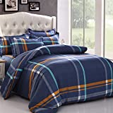 Dark Color Stripe Bedding Sets Home Bedroom bedclothing Ultra Soft Cotton 3 4pcs Twin Full Queen Kin