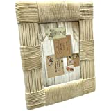 sheffield home 5 by 7 ivory wicker design resin frame
