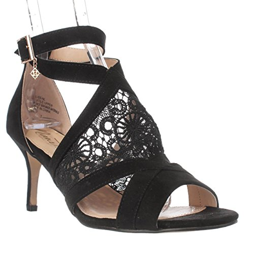 Nanetta Nanette B07C48DKV4 Lepore Bliss T-Strap Sandals, Black B07C48DKV4 Nanette Shoes 5cddb7