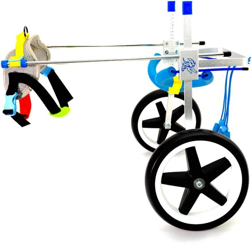 Hh001 Silla de Ruedas Ajustable para Perros Arnés para Movilidad de Perros, Silla de Ruedas con Soporte Trasero para la rehabilitación de Las Patas traseras (Color : XS)