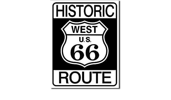 Cartel de Chapa de Route 66 West Históricos Original U.S.A. ...