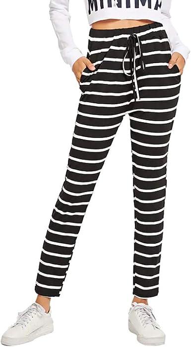 SUNNSEAN Pantalones Pantalones Largos Mujer Verano Casuales de ...