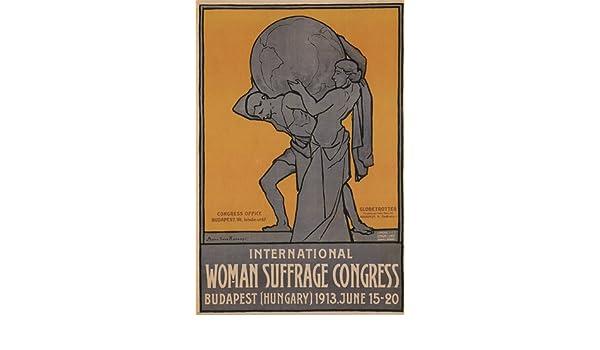 INT/'L WOMAN SUFFRAGE CONGRESS a koranyi austria-hungary AD POSTER 24X36 NEW