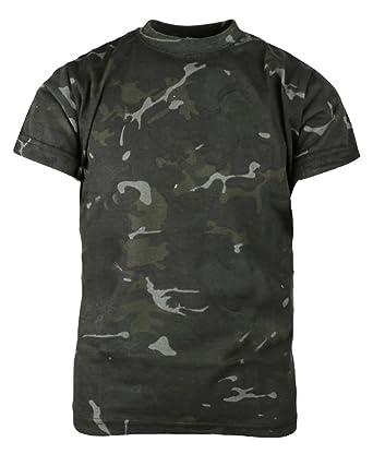 37a906be62e0af LotMart Boys Soldat Tarnfarben T-Shirt Britische Armee Militärisch Kampf  Baumwolle Set - BTP Tarnung