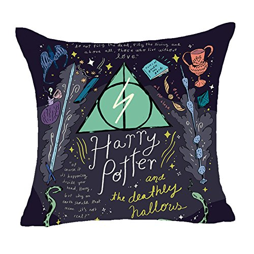 Oitoere Harry Potter Style Dobby Polyester Cushion Cover Goblet Hallows Pillow Cover