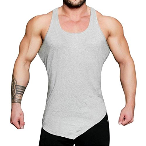 Clearance Sale! Wintialy Men's Gyms Bodybuilding Fitness Muscle Sleeveless Singlet T-Shirt Top Vest ()
