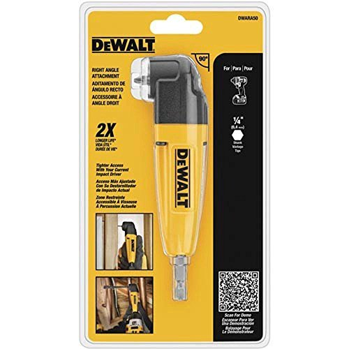 DEWALT Right Angle Drill Adapter DWARA050 HD Version in Retail Pack (Best Right Angle Drill Attachment)