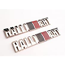 Ralliart Chrome 6.5Cm Hq Metal Trunk Badge Emblem Logo Auto Fender Side Door Car Self Adhesive Body Hood Decal Sticker Replacement Truck Jeep Van Sports Diy Name Plate [2Pieces] SKU#5179CH-BX917 900