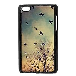Diy Flying Birds Phone Case for ipod touch 4 Black Shell Phone JFLIFE(TM) [Pattern-1]