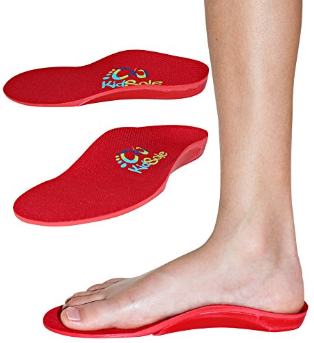 Red Orthotic Sports Insole by KidSole -- Lightweight Soft & Sturdy Orthotic Technology For Active Children With Flat Feet and Other Arch Support Problems ( US Toddler Sizes 11-12 (20 CM))