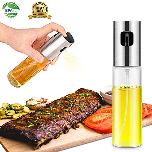 Oil Sprayer Dispenser,Olive Oil Sprayer, Spray Bottle for Oil Versatile Glass Spray Olive Oil Bottle for Cooking,Vinegar Bottle Glass,for - Spray Oil Bottle Olive