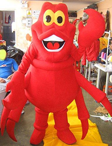 [Little Mermaid Sebastian Mascot Costume Adult Costume] (Little Sebastian Costume)