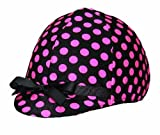Product review for Equestrian Riding Helmet Cover - Hot Pink and Black Polka Dots by Helmet Covers Etc.