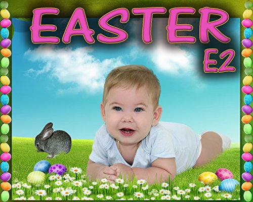 E2 Easter Digital Photo Background backdrops Greeting Cards Mask Holiday Props