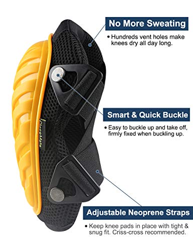 Anti-Slip Knee Pads for Work by Closemate, with Cozy Gel and EVA Foam Cushion, Designed for Gardening, Cleaning, Construction, Flooring and Carpeting, Professional Knee Protector by Closemate (Image #2)