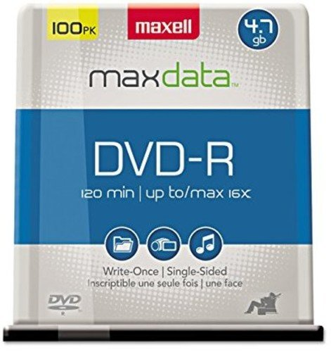 Information Dvd - Maxell 638014 Archiving 8X DVD Recording Device Compatable Stores 2 Hours of Information DVD-R 4.7 Gb Spindle 100 Disc Pack