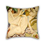 uloveme cushion cases of oil painting Alfredo Guttero - Mujeres indolentes 18 x 18 inches / 45 by 45 cm,best fit for festival,car seat,him,wife,relatives,valentine both sides