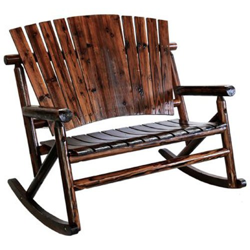 United General Supply TX93866 Natural Organic Char-Log Wood Double (Outdoor Double Rocker)