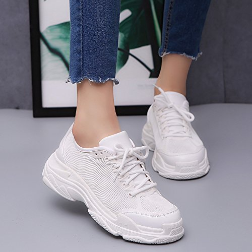7d580994 Que Blanco De Femenina Caminan Ocasionales Plataforma Mujer amp;g Zapatos  Calzado White Ngrdx Ocio Los PiukXZ