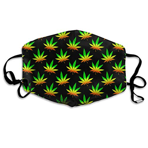 Rasta Weed Leaves Unisex Facemask Ear-loop Dust Mask Cycling Reusable Mask ()