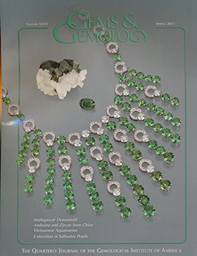 Gems & Gemology : Demantoid and Topazolite From Antetezambato; the Chinese Red Feldspar Conroversy; Uv-vis-nir Reflectance Spectroscopy of Natural-color Saltwater Cultured Pearls; Brownish Red Zircon; Aquamarine From the Thuong Xuan District