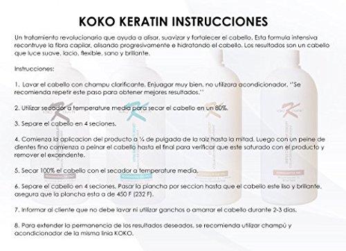 Brazilian Keratin Treatment Chocolate For Professional Use 16 Oz SUPER SMOOTHING, STRAIGHTENING, ADD VOLUME, ADD SHINE,ELIMINATE FRIZZ, PROTECTS HAIR. by KOKO KERATIN (Image #6)